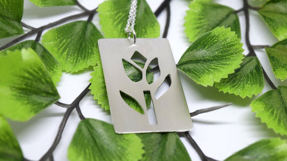 Silver Tulip Pendant