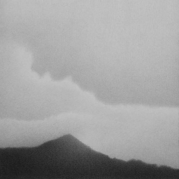 Cerros de Medellín desde Exposiciones grafito sobre papel 13 x 13 cm