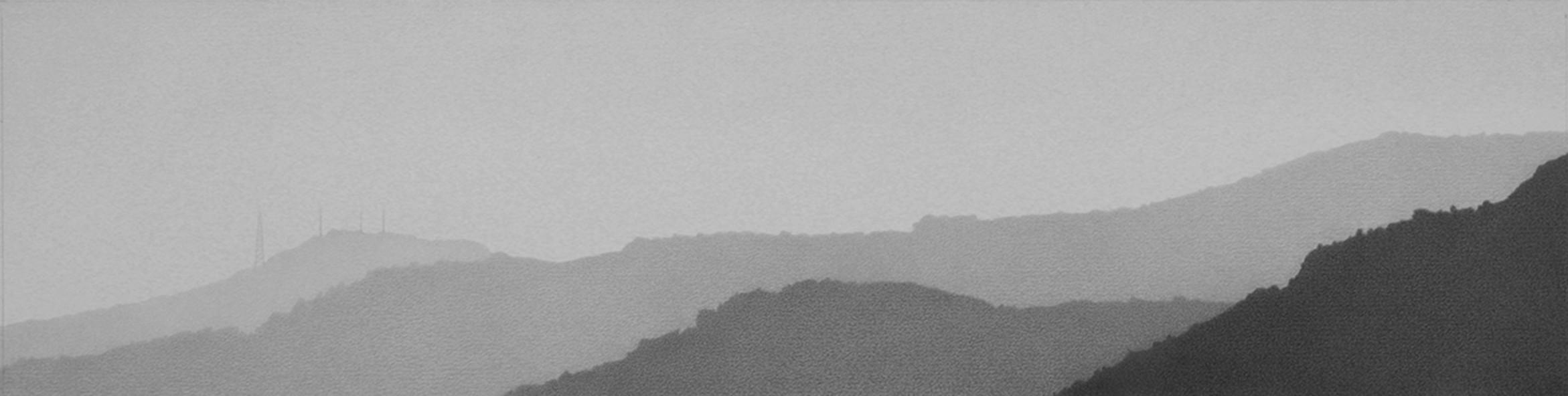 Cerros orientales desde Estudio 39 5 grafito sobre papel 11.7 x 46.3 cm