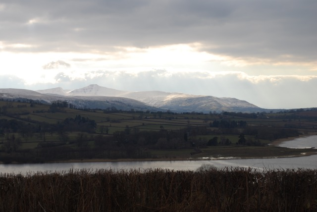 Llangorse Lake in winter