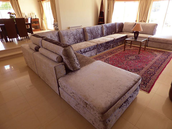 Algarve lounge with custom sofa from Pedigree Interiors