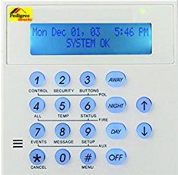 Pedigree Security alarm keypad