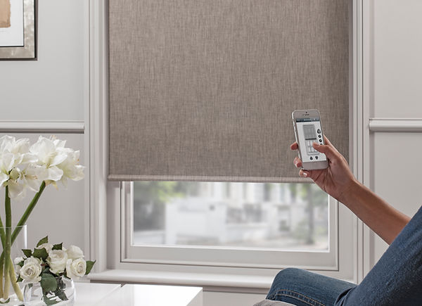 Automated battery operated remote control blinds from Pedigree Interiors