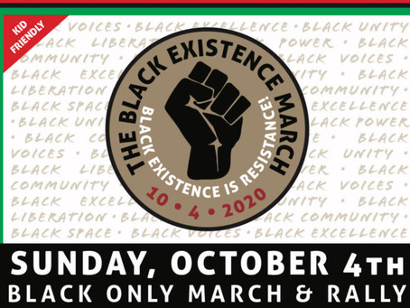 Black Existence March, October 4, 2020