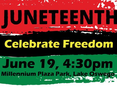 Juneteenth Celebration, June 19, 2021