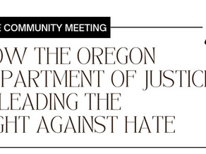 Video: Community Meeting with Oregon DOJ June 7, 2021