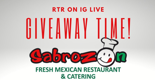 Deadline Oct 11 to Enter to Win a Gift Card for  Sabrozon Fresh Mexican Restaurant!