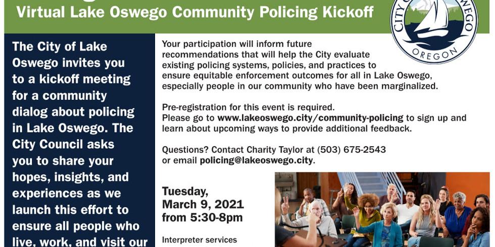 Lake Oswego Community Policing Kickoff March 9