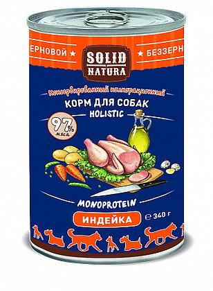Solid Natura индейка консервы для собак 340 гр.
