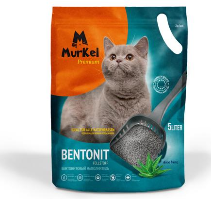 """Наполнитель для кошачьего туалета Murkel Premium """"Алоэ Вера"""" 5л."""