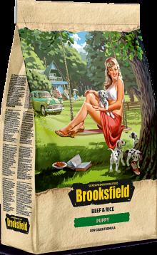 Brooksfield Puppy 3кг Говядина/рис.