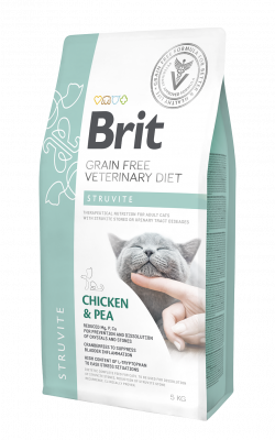 Brit Veterinary diets Grain free Struvite курица с горохом 400гр