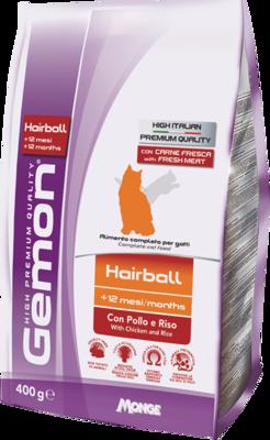 Gemon Cat Hairball с курицей и рисом 400гр.