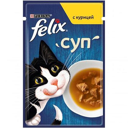 Felix суп для взрослых кошек с курицей 48гр