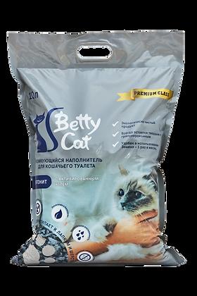 Наполнитель Betty Cat бентонитовый с активированным углем 10л.
