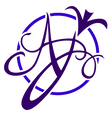 Logo bleu anany artiste