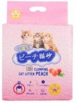 Наполнитель HAKASE AREKKUSU комкующийся Тофу персик для кошек 6 л