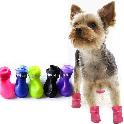 Сапожки для собак резиновые.