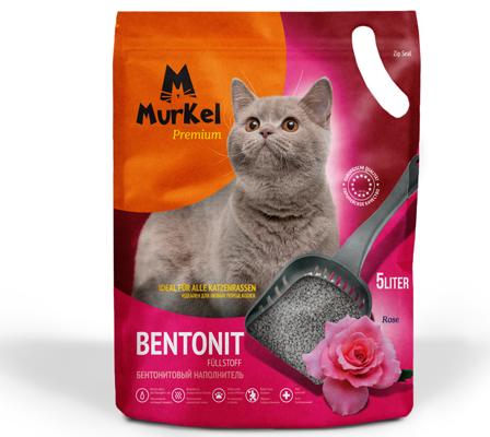 """Наполнитель для кошачьего туалета Murkel Premium """"Роза"""" 5л."""