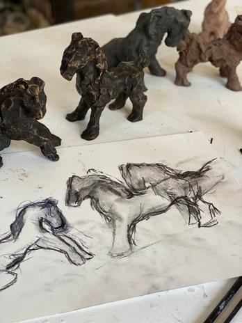 sculpture - Croquis/étape 1