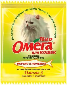 Омега Neo  для кошек с биотином и таурином 15 таб.