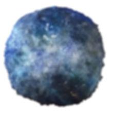 Tableau Lune bleue ronde couleur bleu et nacre et argent
