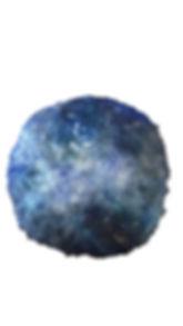 lune nacrée matière pigment bleu couleur foncée et représentation de la lune, l'univers cosmic et matériaux précieux, de l'or incruster