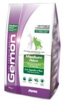 Gemon Medium Adult сухой корм для собак средних пород (Ягненок/рис) 3кг