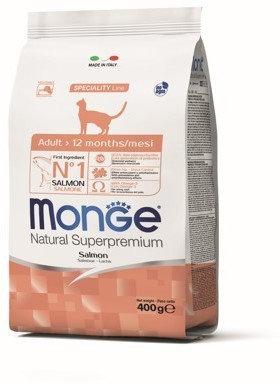 Monge Cat Adult Salmon, с лососем 400 гр.