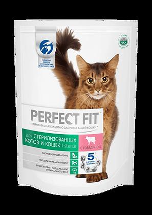 PERFECT FIT™ для стерилизованных котов и кошек говядина 650 гр.