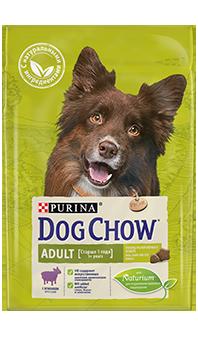 Dog Chow Adult для взрослых собак, с ягненком 2,5 кг+500гр