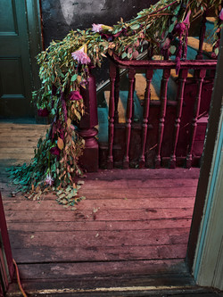 stairs floral/fleur rampe d'escalier