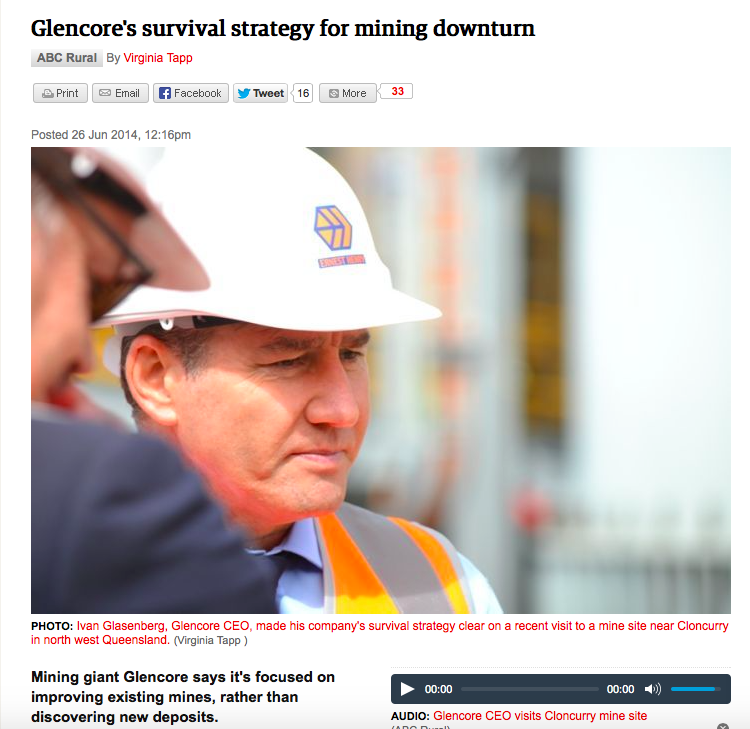 Glencore reveals survival strategy