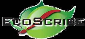 EcoScribe Web Black Letters Transparent.