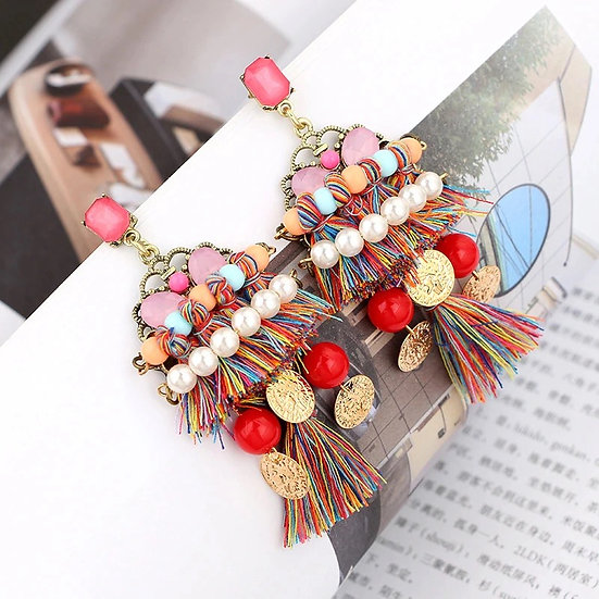 JENNA Multi coloured statement earrings