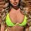 Thumbnail: PHEBI Neon Yellow underwire 2 piece bikini set
