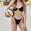 Thumbnail: NELLY Chain strap underwire bikini set