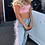 Thumbnail: FLISS Blue washed jeans with pink fur
