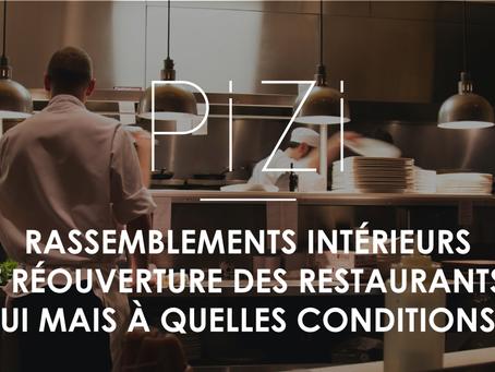 Rassemblements intérieurs et réouverture des restaurants : oui mais à quelles conditions ?