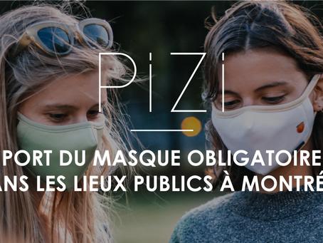 Port du masque obligatoire dans les lieux publics fermés à Montréal