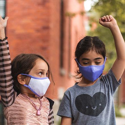 masque lavable enfant montréal réutilisable québec licorne fille couvre visage tissu