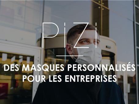 Pizi Masques propose des masques personnalisés pour les entreprises