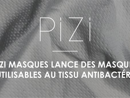Pizi Masques: les masques réutilisables au tissu traité antibactérien!