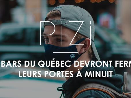 Les bars du Québec devront fermer leurs portes à minuit