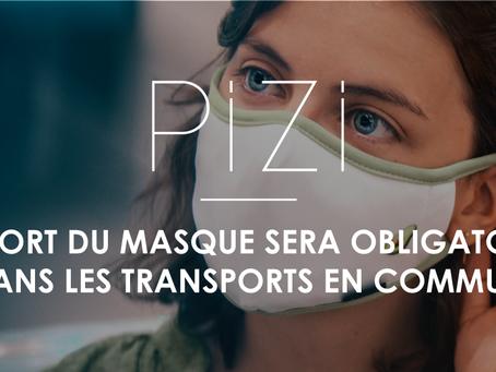 Le port du masque sera obligatoire dans les transports en commun