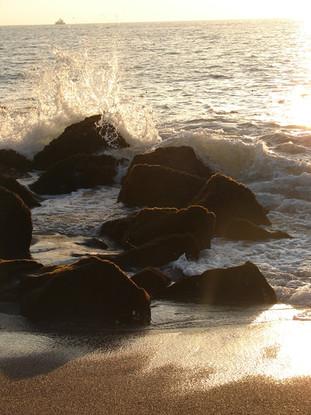 Puerto Vallarta sea rocks sunset