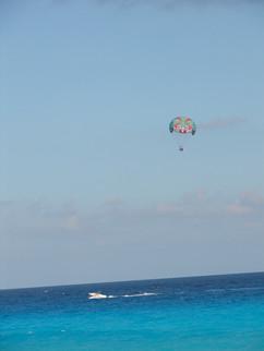 Cancun flying parachute