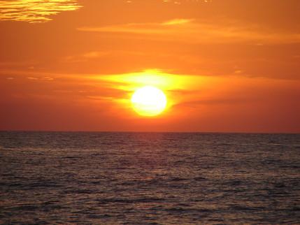 Puerto Vallarta orange sunset