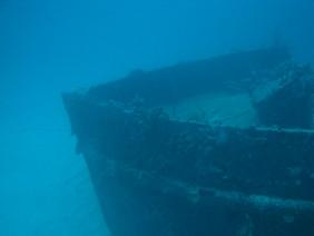 Sunken ship Barbados