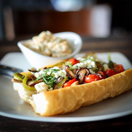 Open-Faced Veggie Sandwich